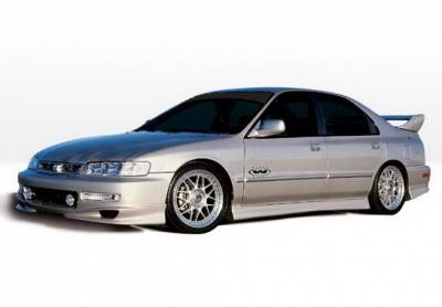 Wings West - Honda Accord 4DR Wings West W-Type Complete Body Kit - 4PC - 890170