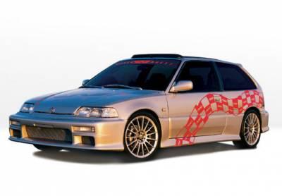 VIS Racing - Honda Civic HB VIS Racing Racing Series Complete Body Kit - 6PC - 890181