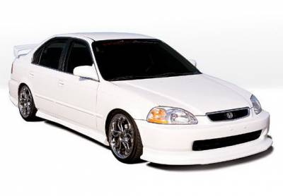 Wings West - Honda Civic 4DR Wings West Racing Series Body Kit with Touring Style Air Dam - 4PC - 890182