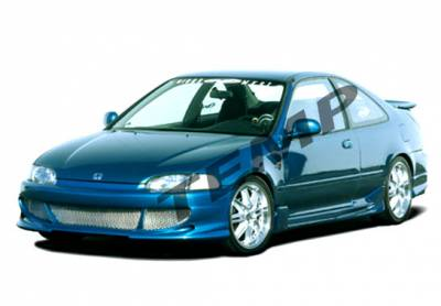 VIS Racing - Honda Civic 2DR VIS Racing Bigmouth Complete Body Kit with Racing Series Sides & Rear - 4PC - 890351
