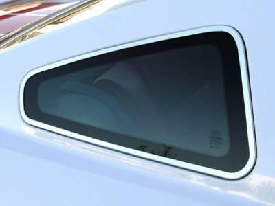 AM Custom - Ford Mustang Polished Quarter Window Trim - 12101