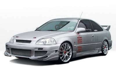 Wings West - Honda Civic 2DR Wings West Avenger Complete Body Kit - 4PC - 890405