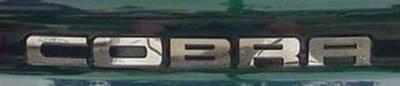 AM Custom - Ford Mustang Cobra Stainless Steel Bumper Insert Letters - 13035