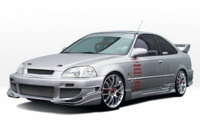 VIS Racing - Honda Civic 2DR VIS Racing Avenger Complete Body Kit - 4PC - 890406
