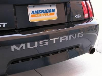 AM Custom - Ford Mustang Black Chrome Bumper Insert Letters - 13051