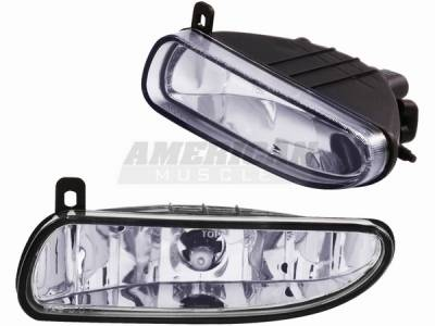 AM Custom - Ford Mustang Chrome Fog Lights - 14054