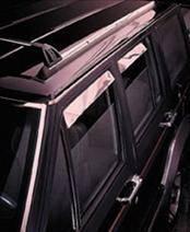 AVS - Mercury Grand Marquis AVS Ventshade Deflector - Stainless - 4PC - 14088