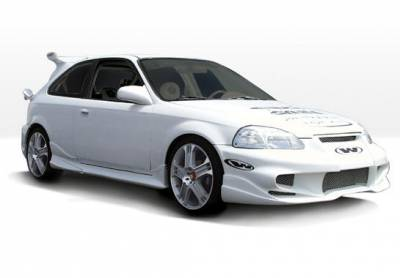 VIS Racing - Honda Civic HB VIS Racing Tuner Type 2 Complete Body Kit - 4PC - 890509