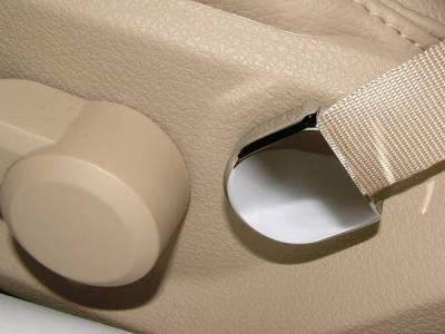 Action Artistry - Ford Mustang Action Artistry Chrome Seat Belt Strap Covers - 15513