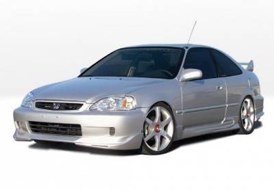 VIS Racing - Honda Civic 2DR VIS Racing W-Type Complete Body Kit - 4PC - 890512