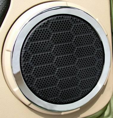 Action Artistry - Ford Mustang Action Artistry Chrome Speaker Trim Rings - 15522