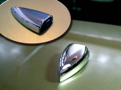 Action Artistry - Ford Mustang Action Artistry Chrome Windshield Washer Squirter Covers - 15535