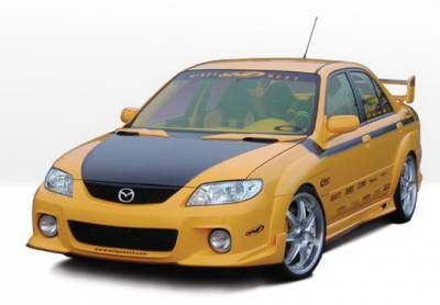 Wings West - Mazda Protege Wings West MPS Body Kit with Extreme Fender Flares - 4PC - 890693