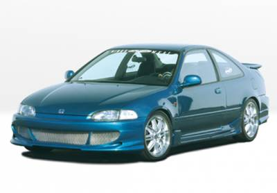 VIS Racing - Honda Civic 2DR VIS Racing Bigmouth Complete Body Kit with G5 Series Sides & Rear - 4PC - 890696