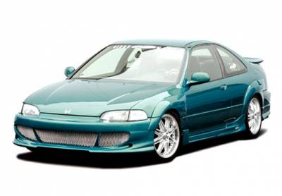 Wings West - Honda Civic 2DR Wings West Bigmouth Body Kit with G5 Sides & Rear & Extreme Fender Flares - 4PC - 890697