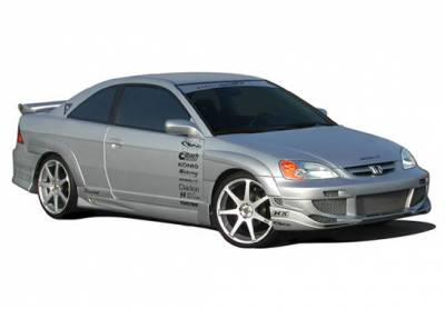 Wings West - Honda Civic 2DR Wings West Avenger Body Kit with Extreme Flares - 4PC - 890728