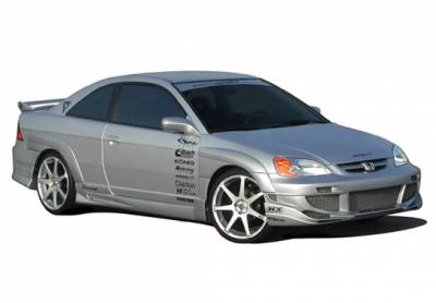 VIS Racing - Honda Civic 2DR VIS Racing Avenger Body Kit - 4PC - With 7PC Extreme Fender Flare - 890728