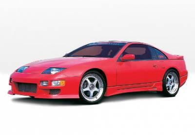 VIS Racing - Nissan 300Z VIS Racing W-Type Complete Body Kit - Fiberglass Sides & Rear - 4PC - 890738