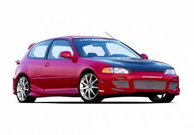 Wings West - Honda Civic HB Wings West Avenger Complete Body Kit with Voltex Rear Bumper - 4PC - 890744