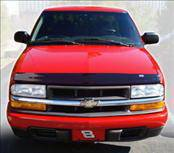 AVS - Chevrolet S10 AVS Bugflector I Hood Shield - Smoke - 22036