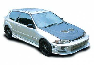 Wings West - Honda Civic HB Wings West Revolver Body Kit with Voltex Rear Bumper & Extreme Flares - 890746