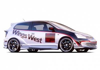 Wings West - Honda Civic HB Wings West G-55 Series Body Kit with Extreme 7PC Fender Flares - 4PC - 890760