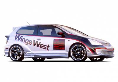 VIS Racing - Honda Civic HB VIS Racing G-55 Series Complete Body Kit - 4PC - With Extreme 7PC Fender Flares - 890760