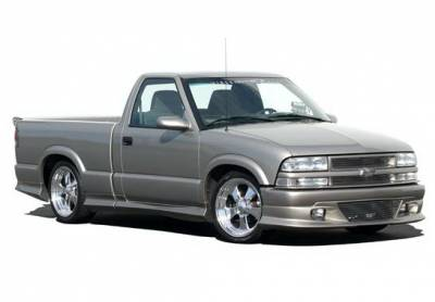 Wings West - Chevrolet S10 Wings West Custom Style Body Kit with Roll Pan - 890820