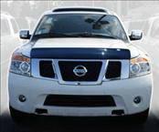 AVS - Nissan Titan AVS Bugflector I Hood Shield - Smoke - 23107