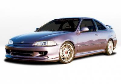 Wings West - Honda Civic 2DR Wings West W-Type Complete Body Kit - 4PC - 890839
