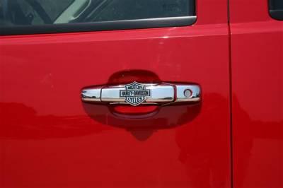 Putco - Chevrolet Silverado Putco Harley-Davidson Door Handles - Bar & Shield - 406002