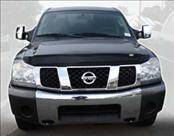AVS - Nissan Titan AVS Bugflector II Hood Shield - Smoke - 25402