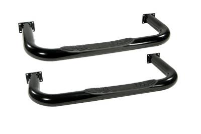 Omix - Outland Side Tube Step - Black - 11590-01
