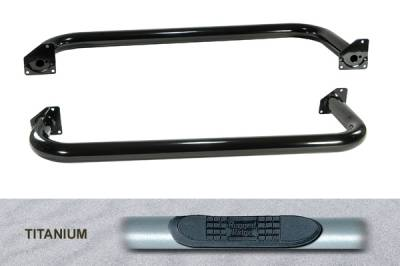 Omix - Outland Side Tube Step - Titanium - 11592-03