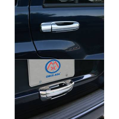 Omix - Omix Door Handle Cover - Chrome - 10 Piece Kit - 13310-13