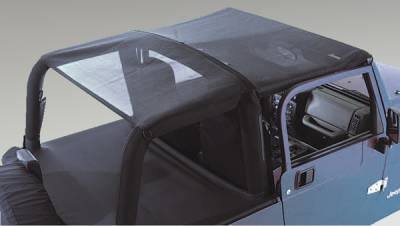 Omix - Rugged Ridge Mesh Roll Bar Top - Requires A Separate Windshield Channel For Installation - 13577-01
