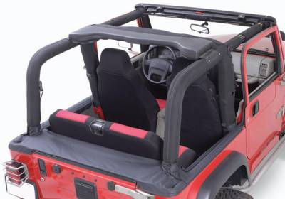 Omix - Rugged Ridge Roll Bar Cover Kit - Denim Black - Fits OE Roll Bars Only - 13612-15