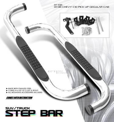 OptionRacing - GMC Sierra Option Racing Side Step Bar - 30-15103