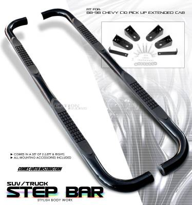 OptionRacing - Chevrolet CK Truck Option Racing Side Step Bar - 30-15104