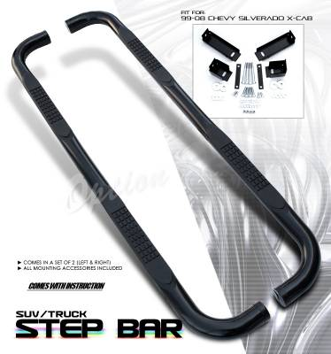 OptionRacing - GMC Sierra Option Racing Side Step Bar - 30-15107