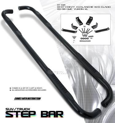 OptionRacing - GMC Sierra Option Racing Side Step Bar - 30-15112