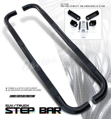 OptionRacing - Chevrolet Silverado Option Racing Side Step Bar - 30-15202