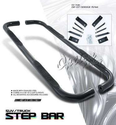 OptionRacing - Dodge Ram Option Racing Side Step Bar - Black - 30-17120