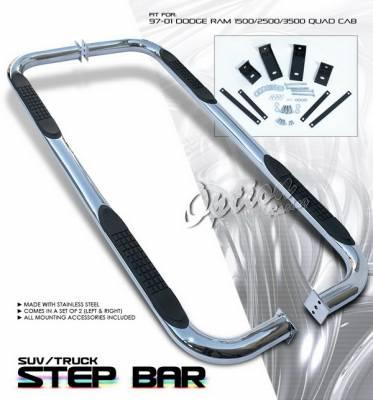 OptionRacing - Dodge Ram Option Racing Side Step Bar - 30-17123