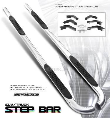 OptionRacing - Nissan Titan Option Racing Side Step Bar - 30-36176