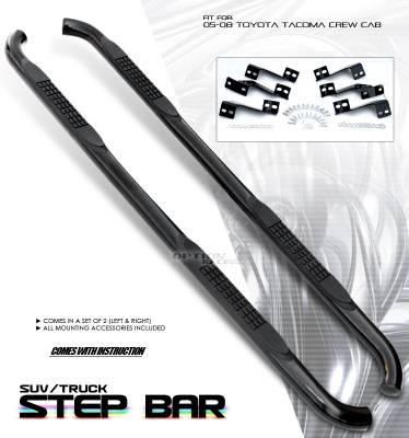 OptionRacing - Toyota Tacoma Option Racing Side Step Bar - 30-44186