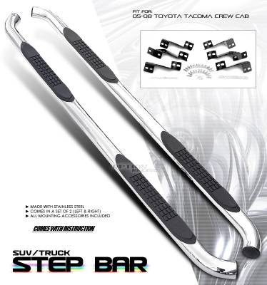 OptionRacing - Toyota Tacoma Option Racing Side Step Bar - 30-44187