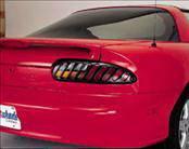 AVS - Chevrolet Camaro AVS Tail Shade Blackout Covers with Diagonal Slots - 2PC - 35832