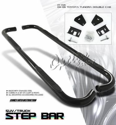 OptionRacing - Toyota Tundra Option Racing Side Step Bar - Black - 30-44194