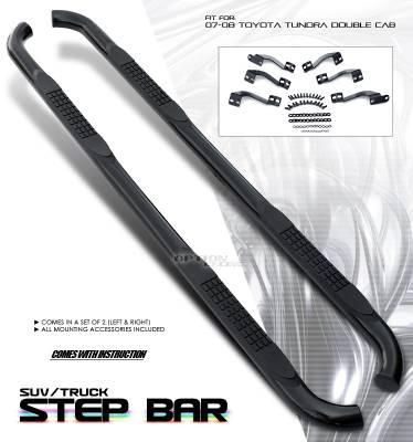 OptionRacing - Toyota Tundra Option Racing Side Step Bar - 30-44198